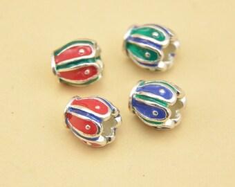 Sterling Silver Bead Caps,Bead base,Enamel holder,Bead Pedestal,Glaze Findings,Glaze Bead Caps