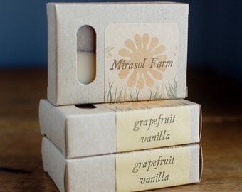 Grapefruit Vanilla - organic vegan soap with essential oils