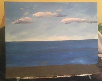 """Acrylic on canvas. 16x20. """"Hull, MA"""""""