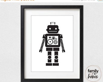 ON SALE Robot (Black and White)