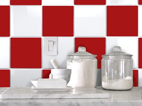 Kitchen Bathroom Tile Decals Vinyl Sticker : Solid Color