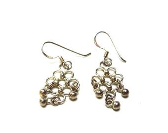 Silver grape bunch earrings. Marked 925. Sterling silver dangle/drop earrings. Beautiful grape clusters.
