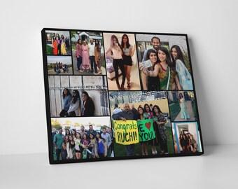 Best Friend Birthday Gift, Best friend art, Personalized friend gift, Best friend print, Best friend canvas, Custom made on canvas, collage