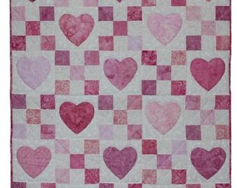 Digital Download Heart Chains Crib Quilt Pattern / Instant Quilt Patterns