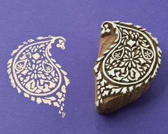 Wood block stamp, Indian paisley
