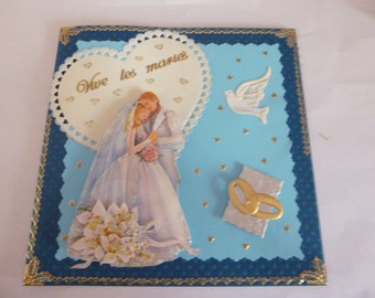 """2018113 wedding card """"to live the newlyweds"""""""