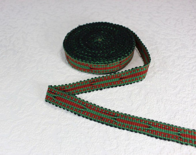 Woven Trim (6 yards), Woven Border, Cotton Ribbon, Grosgrain Ribbon, Dress Border, Border Trim, R171
