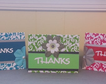 3 Floral Thank You Cards