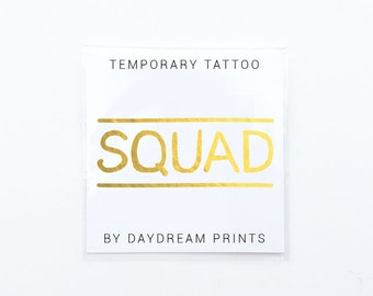 Squad tattoo | Bridesmaid gift | Bride squad | Bachelorette party favor | Bridesmaid proposal | Will you be my bridesmaid