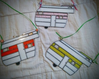 Stained Glass Camper Suncatchers