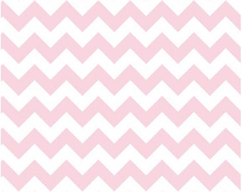 Medium Chevron Baby Pink  by Riley Blake Designs Fat Quarter Cut