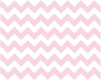 Medium Chevron Baby Pink  by Riley Blake Designs Half Yard Cut