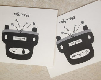 Just Married Car - Wedding Thank You Card - Set of 10