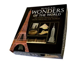 3D Wonders - Build Six Paper Monuments from Around the World || full color pre-cut parts