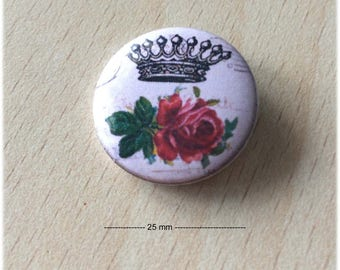 "badge 25 mm ""Crown 07"""