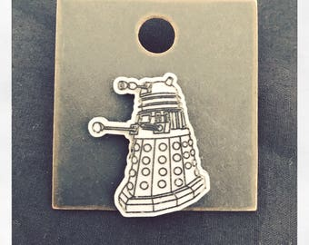 Doctor Who Inspired Dalek Pin Badge Brooch