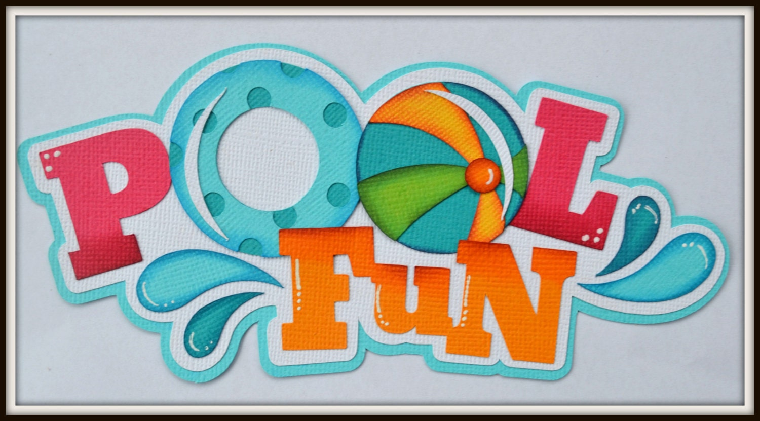 Premade Scrapbook Title Pool Fun For Premade Scrapbook Pages