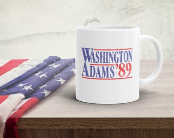 Washington Adams '89 Slightly Distressed Vintage Coffee Mug