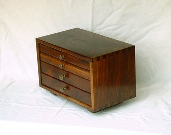 Walnut Jewelry Chest