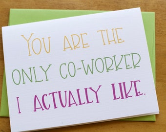 Only Co-Worker Card