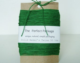 Green Bakers Twine Solid Color Myrtle Green Cotton Soft 50 Yards Green Twine Decorative string