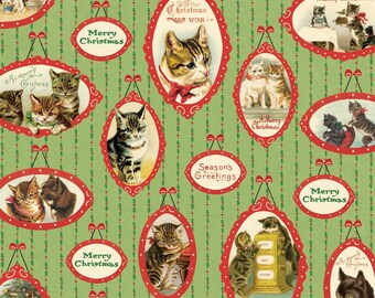 Cavallini Christmas Cats #2 Wrap