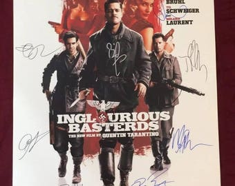 Inglorious Basterds Handsigned Poster by 12 Cast Members