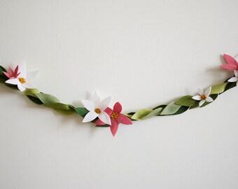 Floral Garland - Felt - Custom Colors