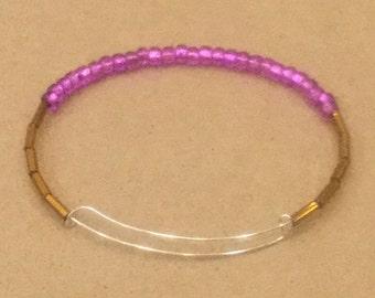 Pink and Gold Bangle Bracelet