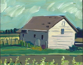 Nebraska Farmhouse, Original Painting, Art