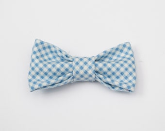 Blue Picnic Table: Cat Bow Tie