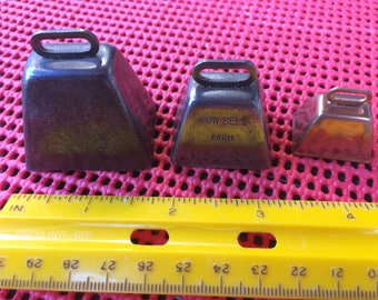 Three Tiny Cow Bells    Best Offer