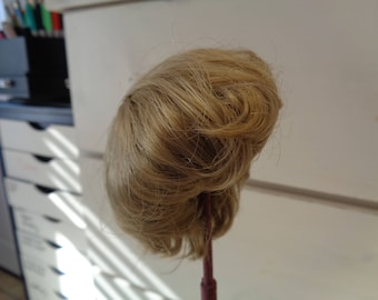 Honey Blond Doll wig- 9-10 Inch Doll Wig-   - NEW old stock- Vintage doll wig