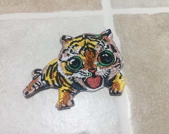Embroidered Tiger Patch Iron On