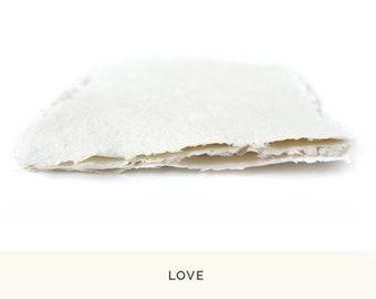 Handmade Recycled Paper • WHITE