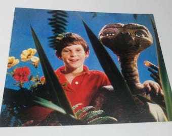 Vintage Elliot & E.T. (Extra Terrestrial) Photo Postcard from Spencer Gifts 8x10