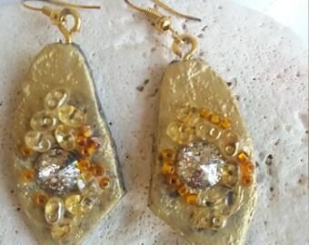Oriental style Golden Earrings
