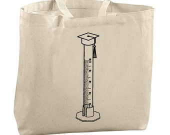 Funny College Student Gifts for Graduates Medical Student Gift Nursing Student Gift Chemistry Graduated Cylinder Tote Funny Science Totes