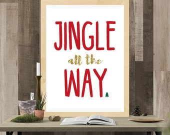 Christmas - Tree - Jingle PRINTABLE Wall Art