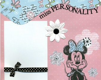 Miss Personality - Premade Scrapbook Page