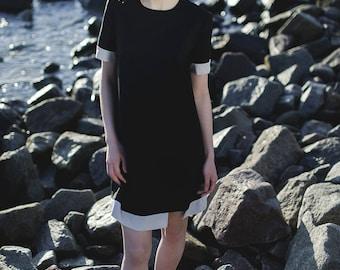Black + grey dress