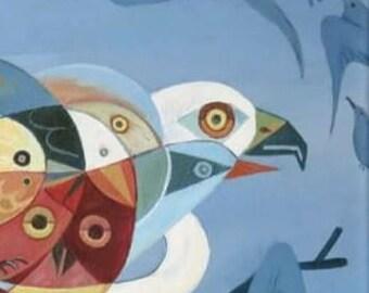 Bird - original acrylic painting