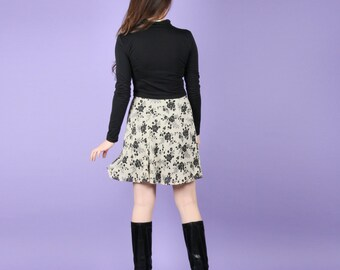 90s Chiffon Floral Skirt