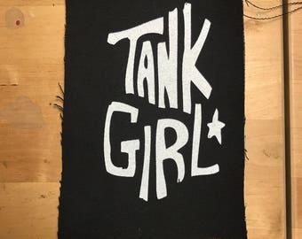 Tank Girl Punk Screenprinted Riot Girl Comic Book Patch
