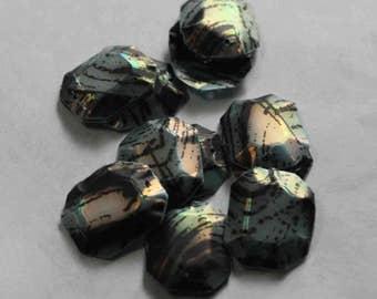 50 Polygon shape / Powder Blue color / Black color /PPS717
