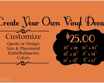 Custom Vinyl Decal Etsy - Create vinyl decals