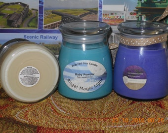 scented soy candle and coconut soap bundle deal
