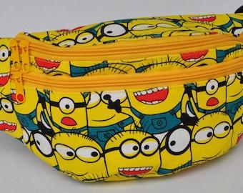 Fanny Pack Minions, hip bag,bum bag,waist bag,belt bag,hip pouch,bags & purses festival bag, concerts bag, festival bag , camping bag