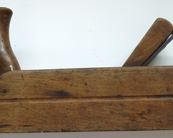 Horn plane woodworkers tool antique vintage primitive hand worked decorative wooden box
