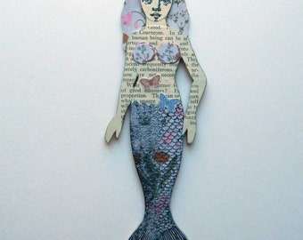 Mermaid Magnet/ Refrigerator Magnet/ Mermaid Fridge Magnet/ Mermaid Paper Doll/ Mermaid Gift/ Novelty Magnet/  Magnetic Mermaid/ Mermaids